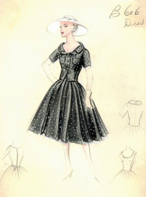 Dior polka-dot dress