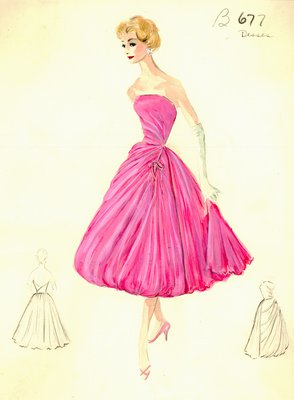 Jean Dessès pink evening gown