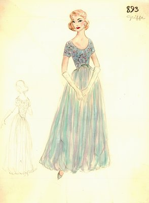 Jacques Griffe evening gown