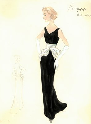 Balmain black evening gown