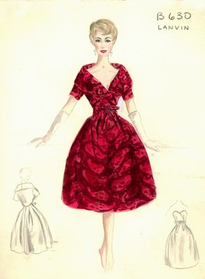House of Lanvin red evening dress