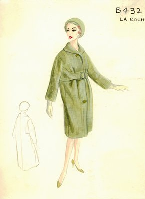 Guy LaRoche green coat