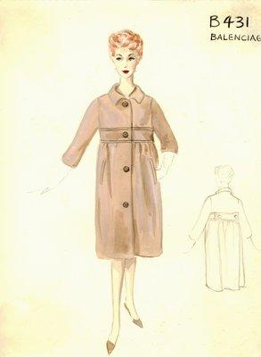 Balenciaga beige coat