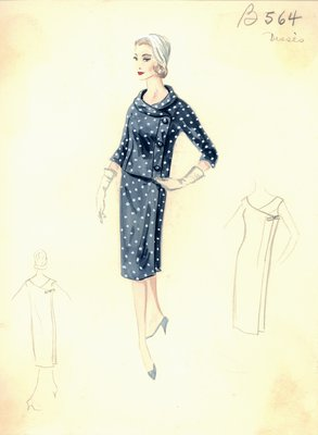 Jean Dessès day dress with jacket