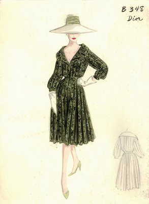 House of Dior green print day dress