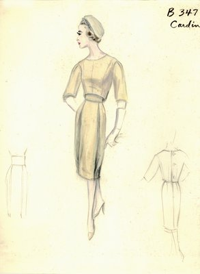 Pierre Cardin beige day dress