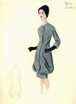 House of Dior gray day dress