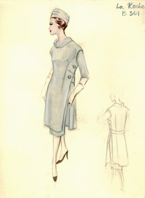 Guy LaRoche day dress with coat