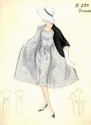 Jean Dessès day dress with coat