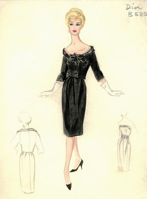 House of Dior black cocktail dress with jacket
