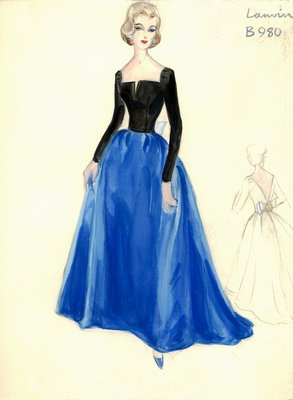 House of Lanvin evening gown