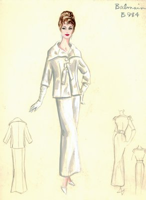 Balmain white evening dress