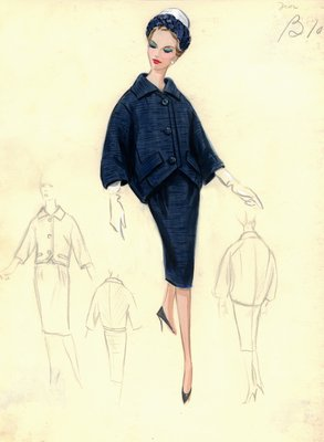 House of Dior blue suit