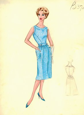 Leslie Morris houndstooth day dress