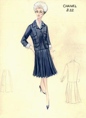 Chanel blue suit