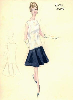 Nina Ricci skirt with tunic