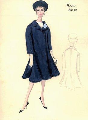 Nina Ricci blue coat