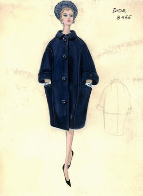 House of Dior blue coat