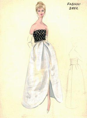 Alberto Fabiani evening dress