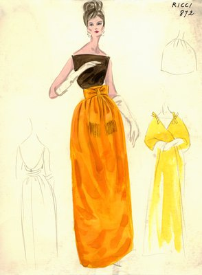Nina Ricci evening gown
