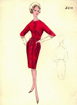 Leslie Morris red day dress