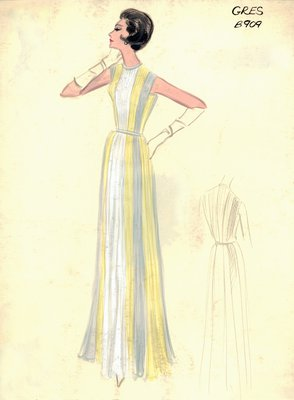 Alix Grès evening gown