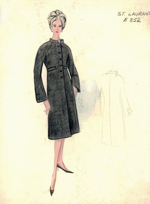Yves Saint Laurent tweed coat