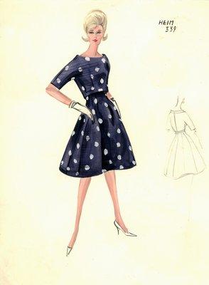 Jacques Heim polka-dot dress