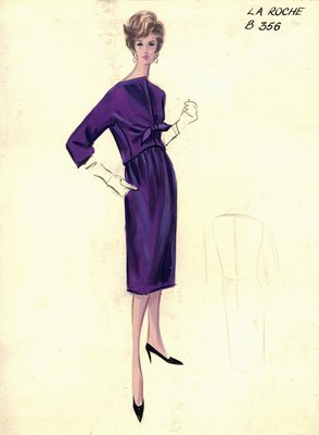 Guy LaRoche purple day dress