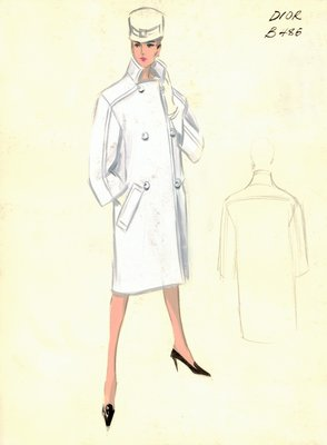 House of Dior white coat