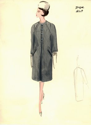House of Dior gray coat