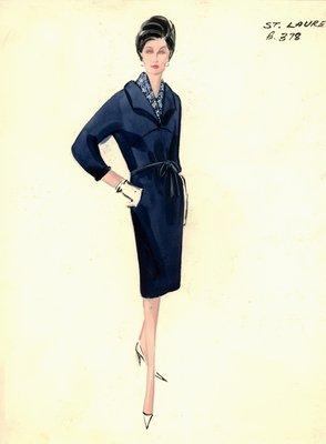 Yves Saint Laurent blue day dress