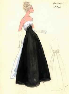 Jean Dessès evening gown