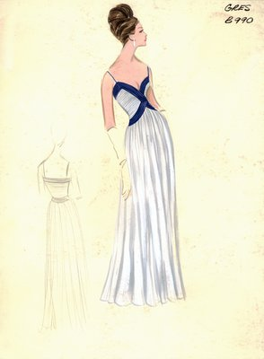 Alix Grès evening gown