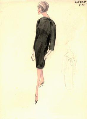 Jean Dessès black day dress