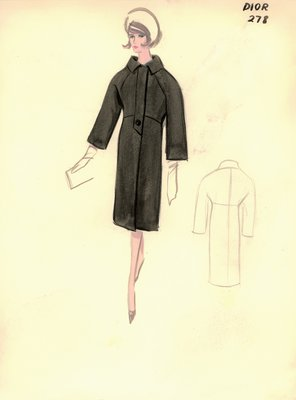 House of Dior black coat