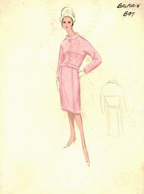 Balmain pink suit