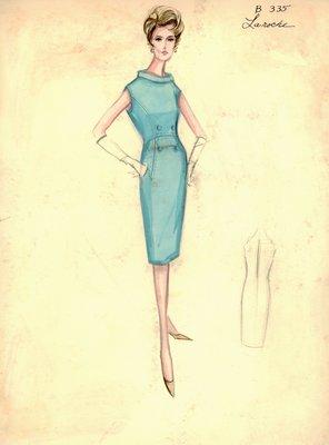 Guy Laroche turquoise day dress