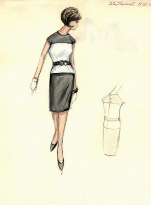 Yves Saint Laurent white day dress