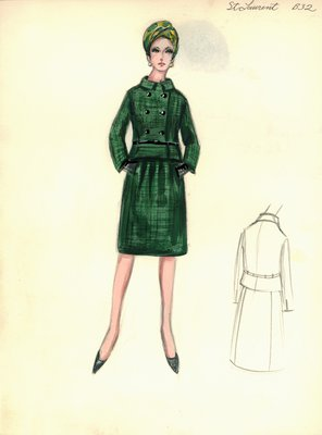 Yves Saint Laurent green suit