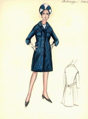 Balenciaga blue coat