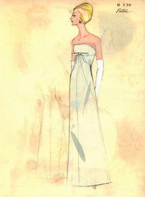 House of Patou green evening gown