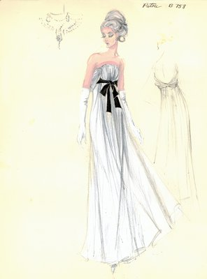 House of Patou white evening gown