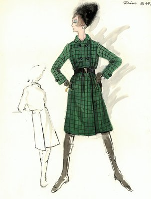 House of Dior plaid coat