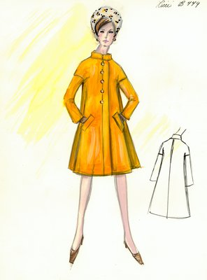 Nina Ricci gold coat