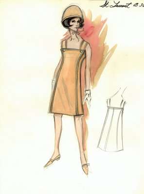 Yves Saint Laurent tan day dress