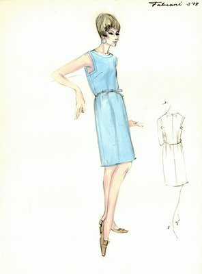 Alberto Fabiani blue day dress