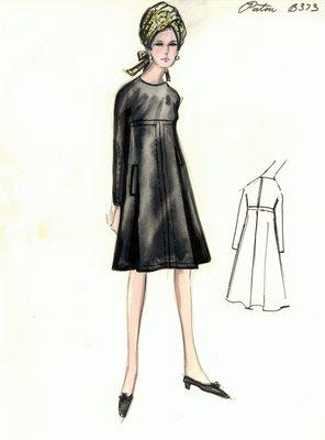 Jean Patou black day dress