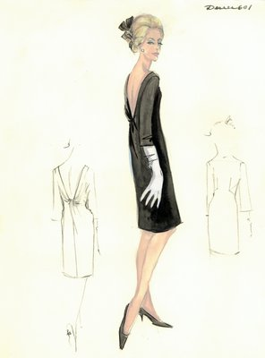 Jean Dessèsblack cocktail dress