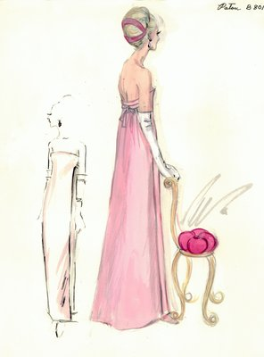 Jean Patou pink evening gown